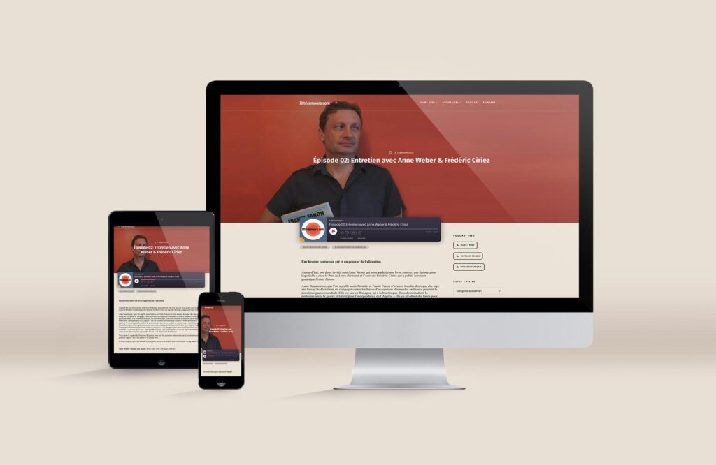 Littéramours Website für Literatur-Podcast