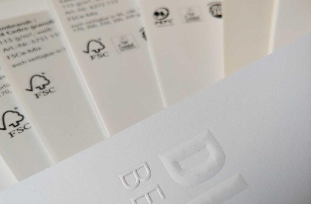 Nachhaltige Papiere mit FSC Label & Co.