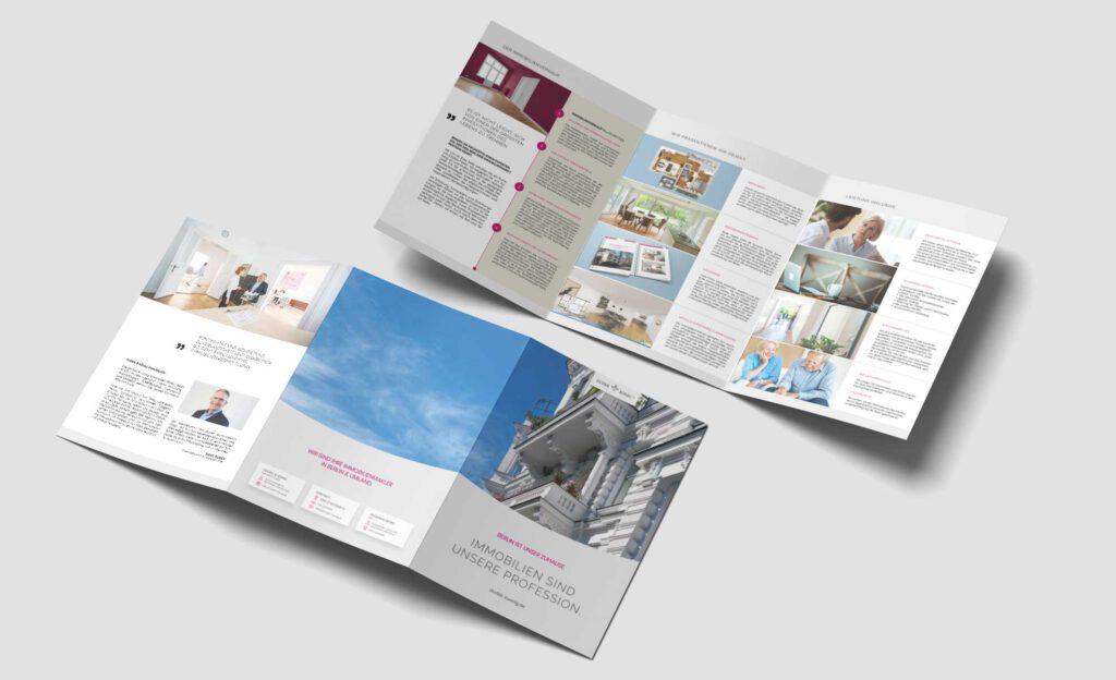 DKI Imagebroschüre 6-Seiter mit Relieflack