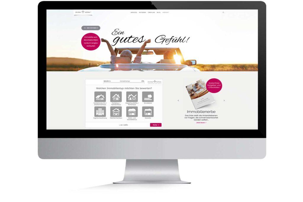 Corporate Website für Dudek und König Immobilien Berlin – Landingpage für Bannerschaltung
