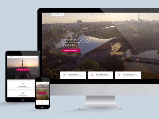 Corporate Website für Dudek und König Immobilien Berlin