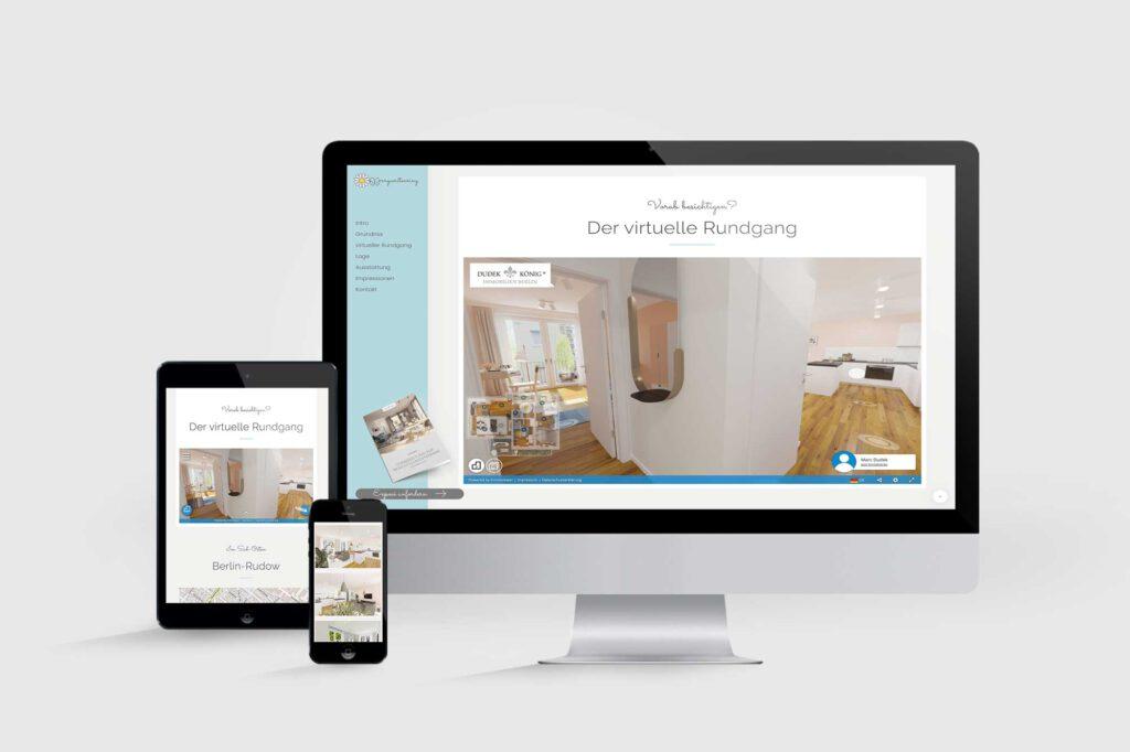 Website für Immobilienprojekt Margueritenring
