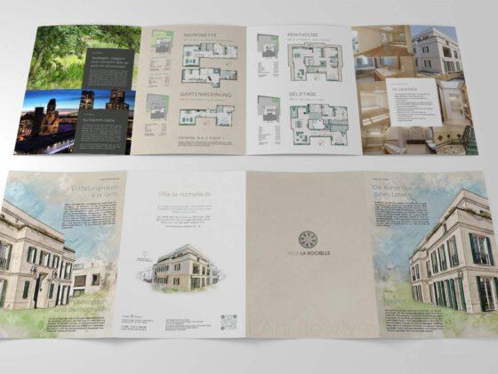 8-seitiger Folder mit hochwertiger Haptik Dank Fedrigoni Tintoretto