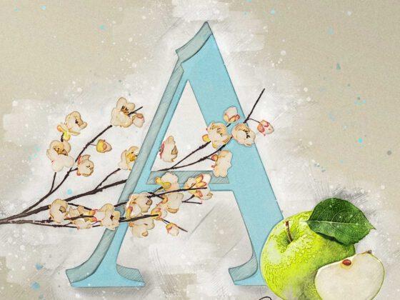 A | Apple | Apfel