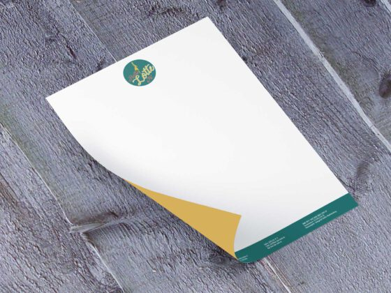 Briefbogen mit farbiger Rückseite nachhaltiger Ökodruck