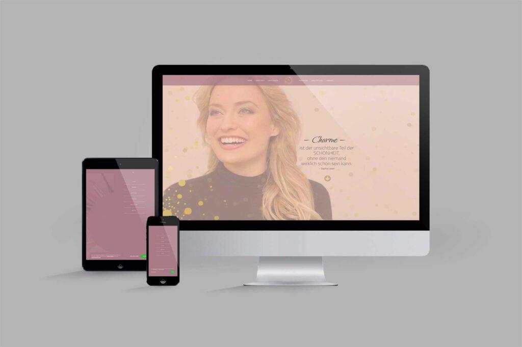 Website für Diplom Maskenbildnerin | Make-Up-Artist: Menu