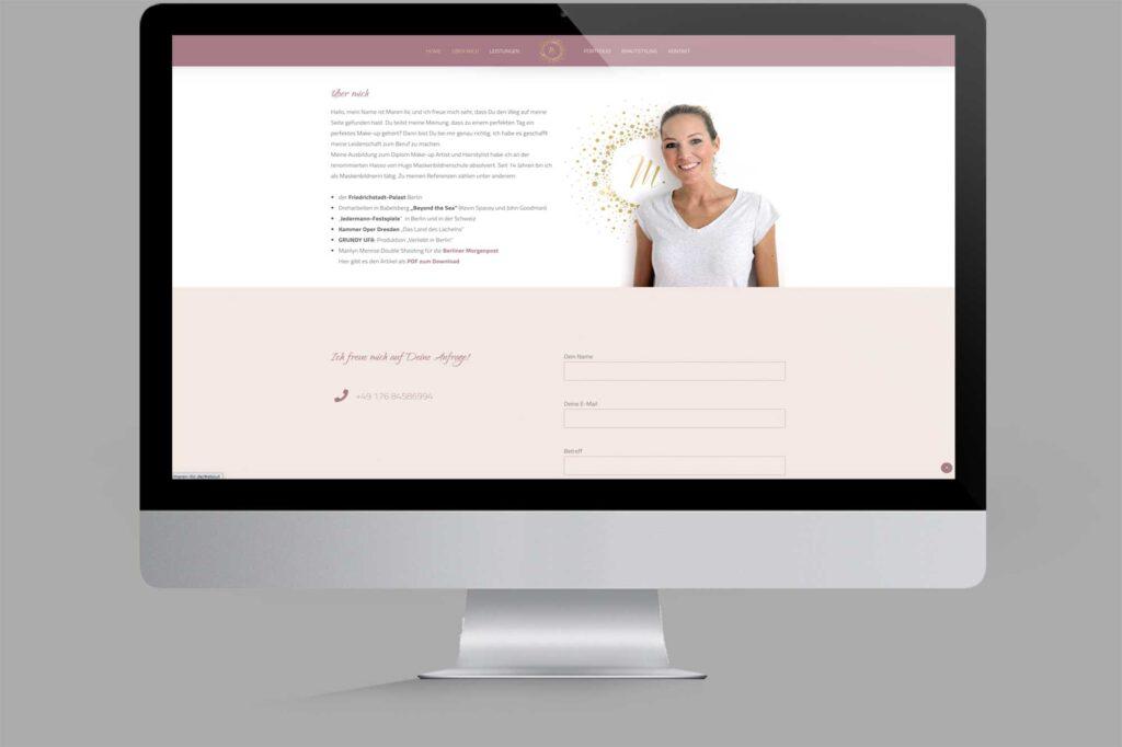 Website für Diplom Maskenbildnerin | Make-Up-Artist: About