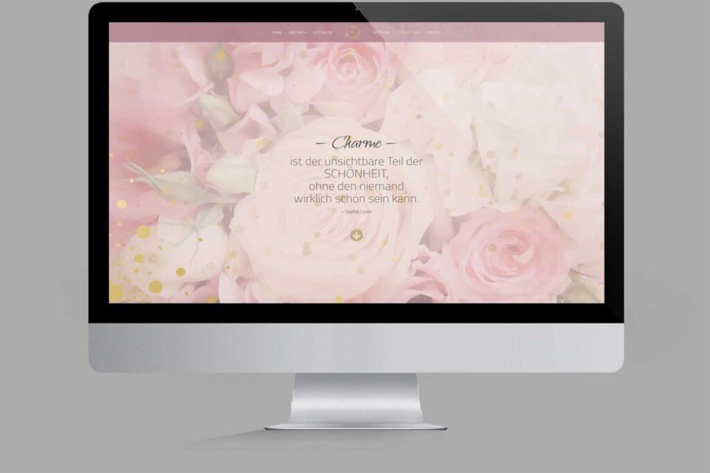 Website für Diplom Maskenbildnerin | Make-Up-Artist: Brautstyling