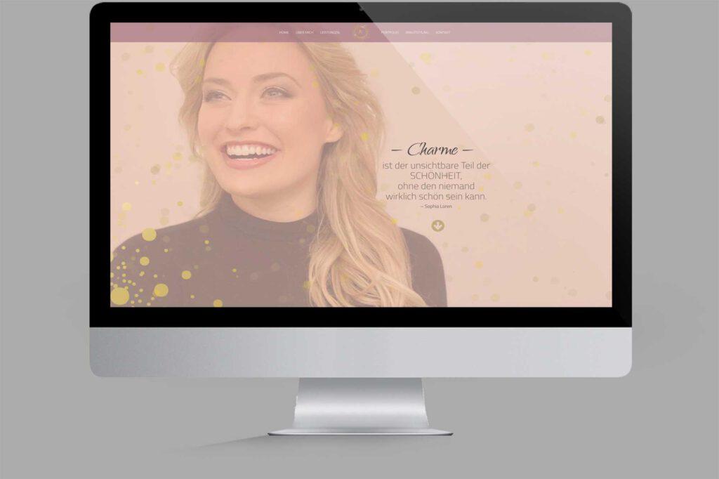 Website für Diplom Maskenbildnerin | Make-Up-Artist: Intro