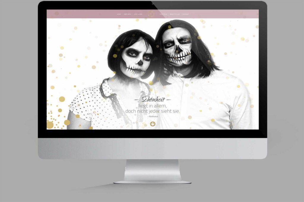 Website für Diplom Maskenbildnerin | Make-Up-Artist: Special Effects