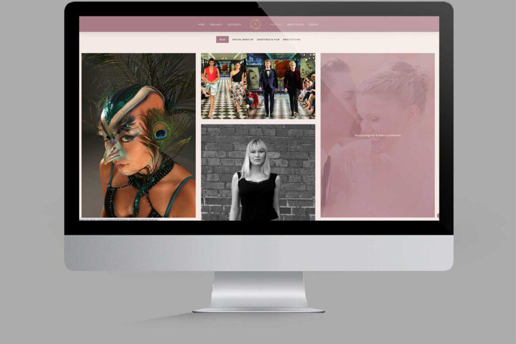 Website für Diplom Maskenbildnerin | Make-Up-Artist: Portfolio