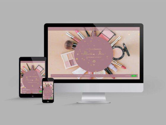 Website für Diplom Maskenbildnerin | Make-Up-Artist: Startseite