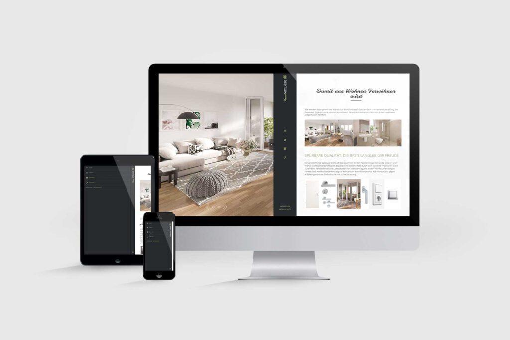 Website für Immobilienprojekt Neue Mittelheide