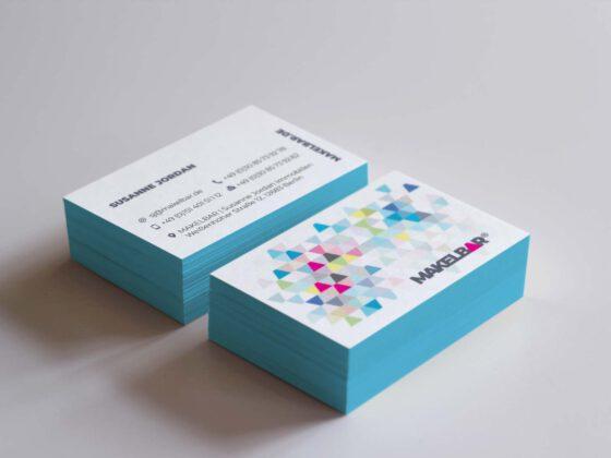 Visitenkarten mit Farbschnitt – Makelbar