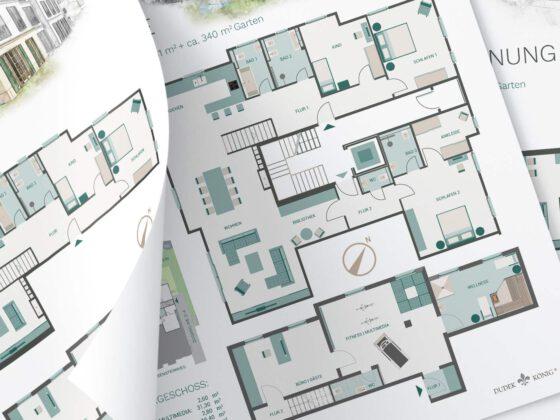 Grundrisse neu illustriert für Villa La Rochelle