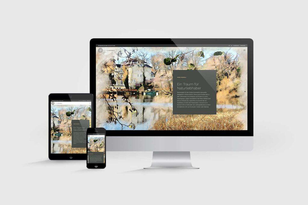 Website für Immobilienprojekt Villa La Rochelle: Lage
