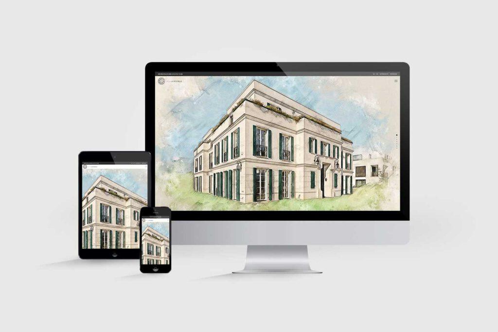 Website für Immobilienprojekt Villa La Rochelle: Startseite