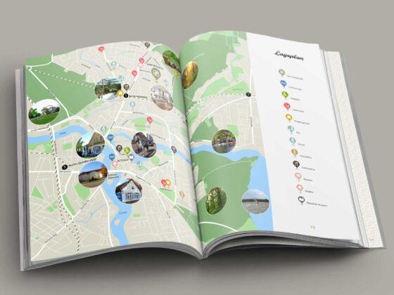 Illustration Lageplan für Broschüre als Softcover für Neubauprojekt Neue Mittelheide