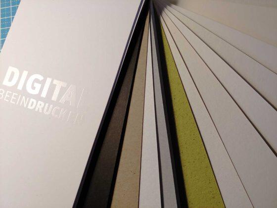 Digitaldruck geht edel: Musterfächer von Color Connection