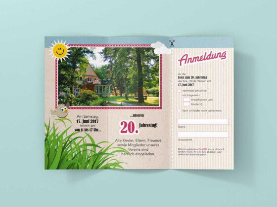 Einladung Kita Wilde Wiese Folder 6-seitig