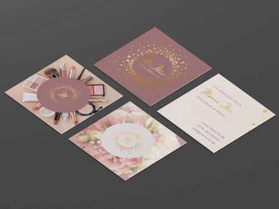 Visitenkarten Digitaldruck mit Heißfolienprägung 3 Sorten