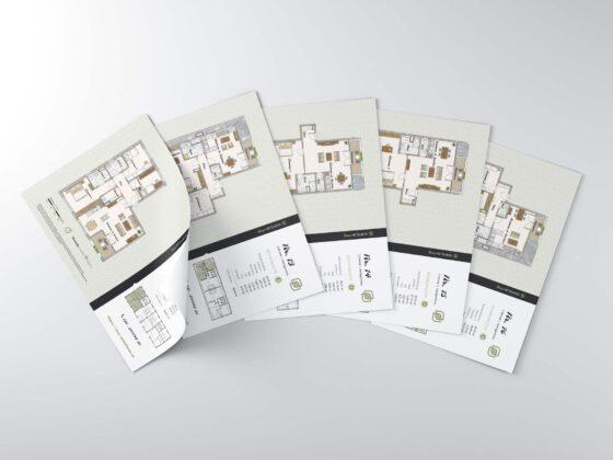 Grundrisse als PDF als Softcover für Neubauprojekt Neue Mittelheide