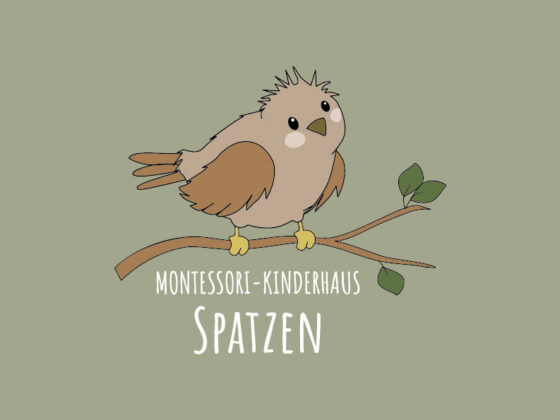 Illustration für Logo Montessori-Kinderhaus Spatzen