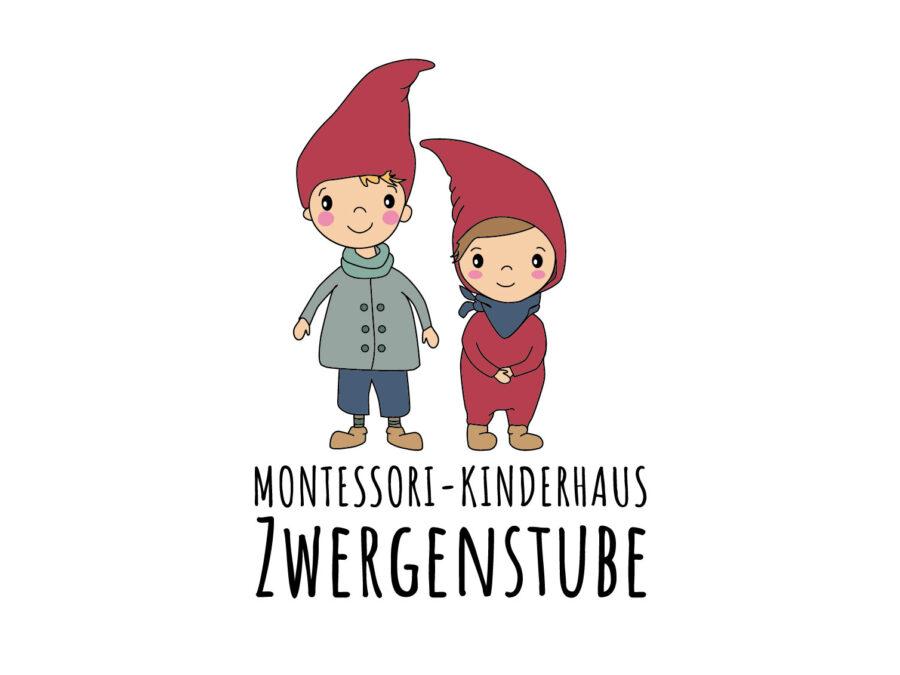 Illustration für Logo Montessori-Kinderhaus Zwergenstube